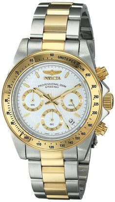 Invicta Men's 9212 Speedway Analog Japanese Quartz Chronograph Stainless Steel Watch: Invicta: Watches - nice watches, best watches for women, watch batteries *ad Mens Watches Under 100, Watches For Men, Popular Watches, Gold And Silver Bracelets, Bracelets For Men, Invicta Speedway, Seiko, Emporio Armani, Cool Watches
