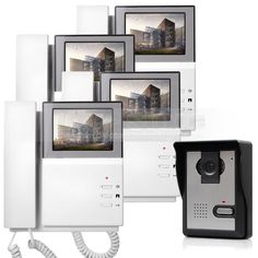 255.85$  Watch here - http://alikqc.worldwells.pw/go.php?t=32790924015 - DIYSECUR Video Intercom Video Door Phone Doorbell 600TV Line Night Vision Outdoor Unit for Home / Office Security System 1 V 4