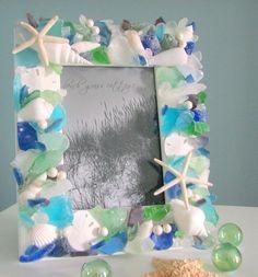 Beach Decor Seashell Frame  Nautical Shell by beachgrasscottage, $79.00