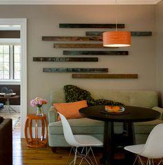 Bois récupéré Wall Art | Cliquez Pic pour les 36 murales Art Idées de bricolage pour Salon | Idées décorations de bricolage pour la maison