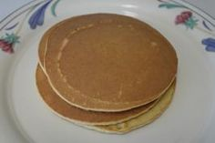 Low Carb Pancakes - No Soy!  Total Carbohydrate 6.7 g   You have to put something on these because they are so very dry. So look up maple pancake syrup (low-carb) by beach girl on food.com and there is a recipe that is easy and only 1.7 g per 1/4 cup.