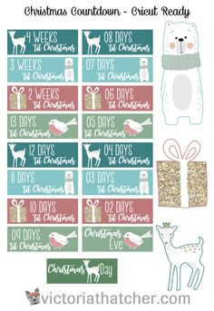 Christmas Countdown for Planner - may need to resize to 85% for EC