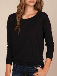 Alternative Womens Slouchy Pullover, Eco True Black, Small