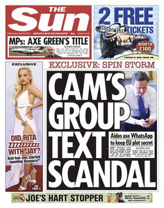 Disgraceful journalism from the Sn on their Wednesday paper