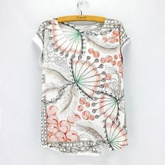 New fashion Flower Elephant printed t shirts women summer dresses 2016 novelty design casual top tees for girls