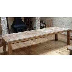 Reclaimed Teak 3m Banquet Dining Table
