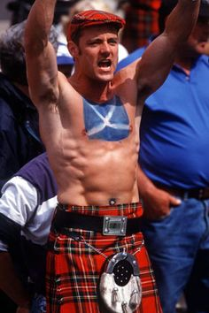 Again... When are the Highland Games?  Although this guy loses points for having a chicky-type belly ring.