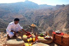 Mountain picnic  Oman