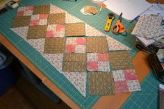 Double Four Patch Table Runner Tutorial