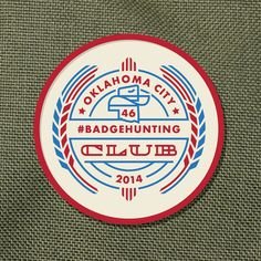 I made this #badgehunting #logo a while back. I made a #tshirt out of it too :) Should it be my new #patch #design for my shop? Let me hear ya ;) #logodesign #thicklines #monowidth #badge #ok #okc #oklahomacity