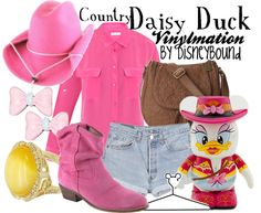 """""""Country Daisy Duck"""" by lalakay ❤ liked on Polyvore"""
