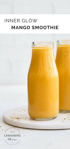 choosingchia.com | This Inner Glow Mango Smoothie will light up your day!