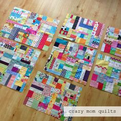 crazy mom quilts: scrap vortex QAL week 4