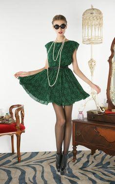 Alice and Olivia emerald green dress. Love.