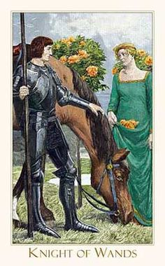 knight of wands - victorian romantic tarot