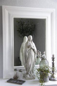 Jeanne d'Arc Living suuri peili valkoinen | sateenkaarentaa
