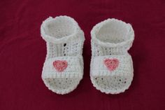 03+month+Baby+Girl+Sandal+Booties+100+by+JackintheBoxCrochet,+$15.00