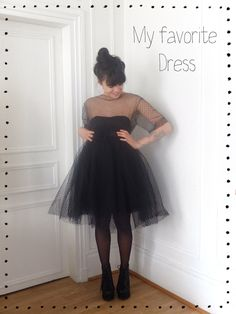 Free Pattern and Tutorial: My Favorite Dress. Diy Clothing, Sewing Clothes, Diy Dress, Dress Up, Dress Cake, Tulle Dress, Do It Yourself Mode, Robe Diy, Diy Vetement