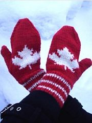 Maple Leaf Mittens pattern by Cathy Payson Spirit of the North, cheer on our Canadian team FREE PATTERN Ravelry: Maple Leaf Mittens pattern by Michele C Meadows Knitted Mittens Pattern, Crochet Gloves, Knit Mittens, Knitted Hats, Knit Crochet, Free Crochet, Knitting Charts, Knitting Patterns Free, Free Knitting