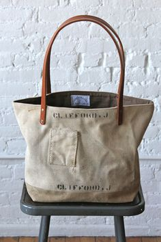 WWII era US Navy Canvas Tote Bag - FORESTBOUND