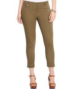 Lauren Ralph Lauren Plus Size Cropped Slim-Fit Pants