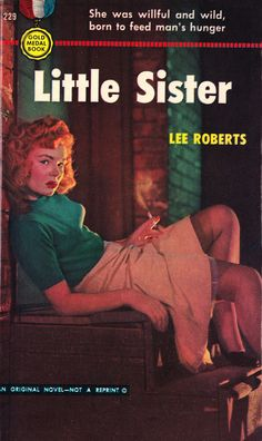 """Great pulp fiction cover of a """"smokin' babe""""!"""