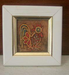 Óleo sobre tela, pintado a mão. <br>Mini quadros feitos na medida de 4cm x 4cm (tamanho tela) e 7cm x 7 cm (com moldura)