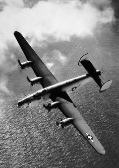 B-24 Liberator in Flight.