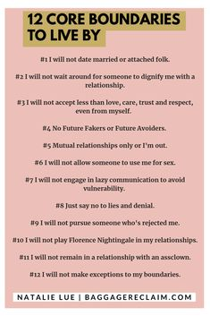 From avoiding people who haven't left their existing relationship, to not accepting lazy communication, Natalie shares 12 core boundaries to live by is part of Dating relationships - Relationship Challenge, Relationship Advice, Marriage Tips, Dating Advice, Relationship Psychology, Relationship Improvement, Psychology Memes, Relationship Meaning, Dating Rules