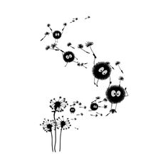 Tattoo idea. Dandelions turning into soot sprites.