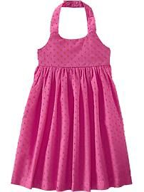 Swiss-Dot Halter Sundresses for Baby