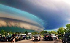 Crazy storm on August 2, 2015 in Traverse City, Michigan.