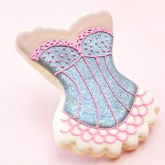 Glitter Burlesque Bachelorette Cookie