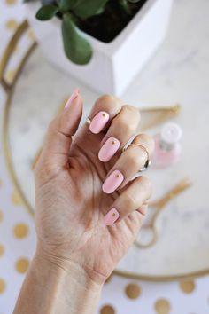 Gold Stud Manicure DIY