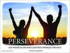 Perseverance - Inspirational Quote Poster