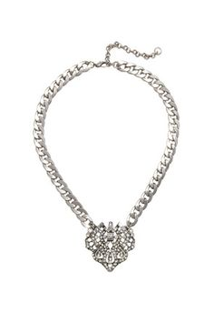 This is the best ever!A vintage-inspired stone charm adds a glamorous vibe to this chain link necklace. Medium-weight. Lobster clasp. Polished, high-shine finish.