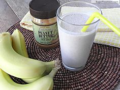 12 Fast Fruit Smoothies without added Refined Sugars!: Banana Peanut Butter Chia Smoothie