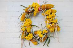 Native wreath: Kinfolk floral potluck event