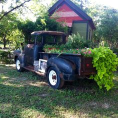 I'm tempted to do this to my hubby's beat-up vintage truck... just until he has time to actually work on it :)