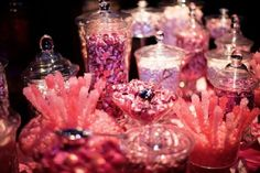 pink candy buffet, fit for a princess