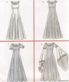 simple medieval dresses - Google Search