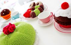 Crocheted cookies and cakes