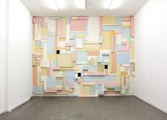 "German multimedia artist Katja Windau extended the life of her recent wall installation Die Zelle des Piet M (""The Cell of Piet M. Piet Mondrian, Art Public, Inspiration Wall, Colour Inspiration, Fade Color, Installation Art, Decoration, Sculpture Art, Sculptures"