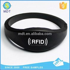 Silk Printed Logo RFID Wristband RFID NFC Bracelet for Cashless Payment