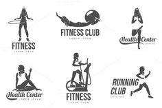 Muslim woman fitness logo. Sport Icons. $4.00