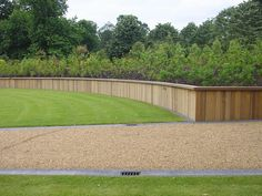 hardwood retaining wall with wooden top