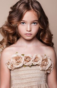 Anastasia Bezrukova, a Russian child model.