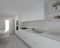 Cocina Santos Modelo Minos E Blanco Encimera Silestone Blanco Double Vanity, Kitchen Design, Patio, Bathroom, Kitchen, Model, Design Projects, Vanity Tops, House