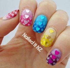 Nailed It NZ: Hunger Hearts - Effie Trinket Nail Art! http://www.naileditnz.com/2013/11/hunger-hearts-effie-trinket-nail-art.html