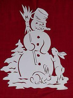 Schneemann mit Häschen